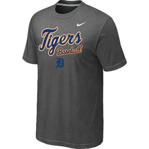 Nike MLB Detroit Tigers 2014 Home Practice T-Shirt - Dark Grey