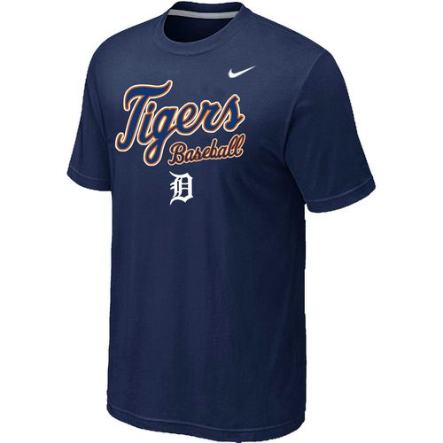 Nike MLB Detroit Tigers 2014 Home Practice T-Shirt - Dark blue