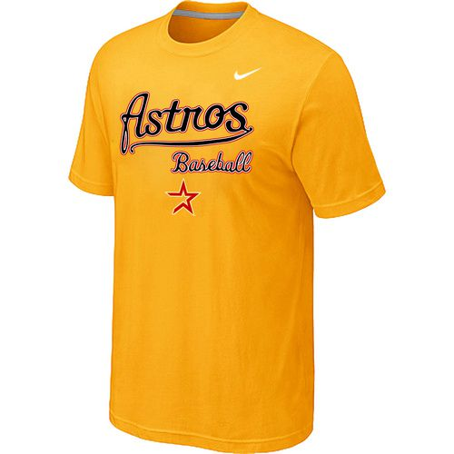 Nike MLB Houston Astros 2014 Home Practice T-Shirt - Yellow