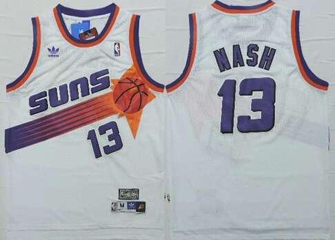 ... Phoenix Suns 13 Steve Nash White Hardwood Classics Soul Swingman Throwback  Jersey ... 254a1e5b6