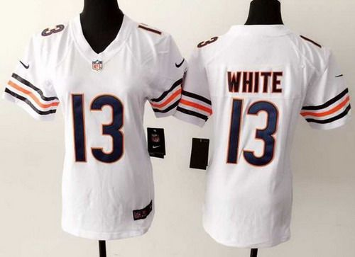 34 walter payton limited away white jersey womens chicago bears 13 kevin white nike white game jerse