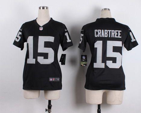 ... 34 Bo Jackson Limited Gray Gridiron NFL Jersey Womens Oakland Raiders  15 Michael Crabtree Nike Black Game Jersey Mens ... 3825c5da8