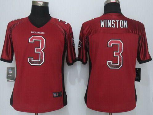 9be93ab72ed ... 22 Doug Martin RedWhite Two Tone Womens Jersey Womens Tampa Bay  Buccaneers 3 Jameis Winston Nike Drift Fashion Red Jersey ...