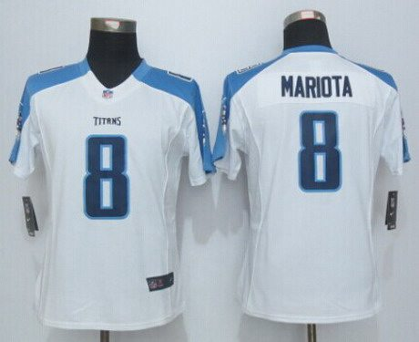 nfl tennessee titans nike womens tennessee titans 8 marcus mariota nike white limited jersey