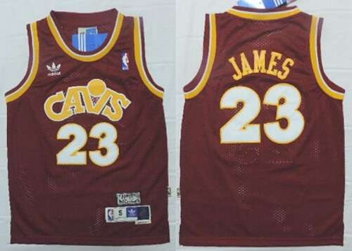 bcd3f9960 ... wine fashion hardwood classics swingman jersey  youth cleveland  cavaliers 23 lebron james cavfanatic red hardwood classics soul swingman  throwback ...