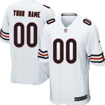 0ce8f6655 ... Youth Nike Chicago Bears Customized White Game Jersey ...