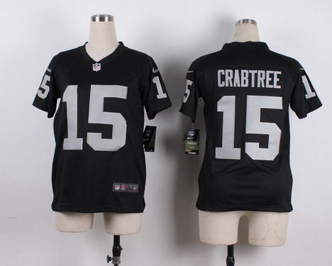 3700483a4 ... Youth Oakland Raiders 15 Michael Crabtree Nike Black Game Jersey ...