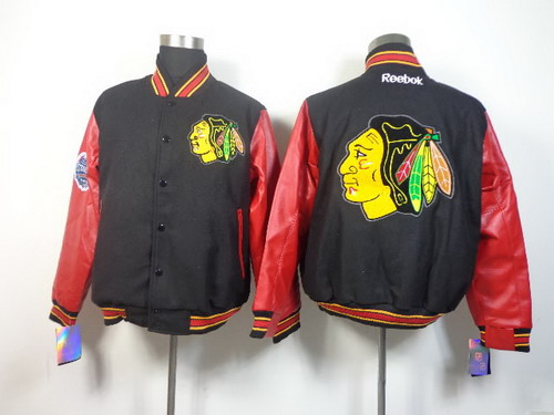 Chicago Blackhawks Blank Black Jacket