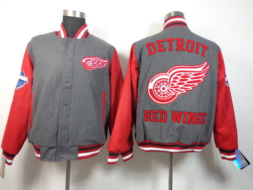 Detroit Red Wings Blank Gray Jacket