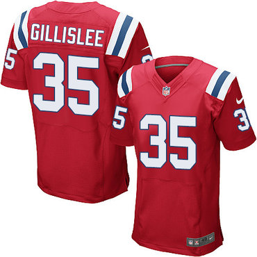 Men's New England Patriots #35 Mike Gillislee Red Alternate Stitched NFL Nike Elite Jersey