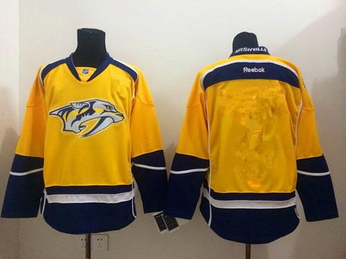 quality design e3675 557a7 Nashville Predators Blank Yellow Jersey on sale,for Cheap ...