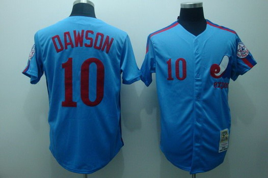Montreal Expos #10 Andre Dawson 1982 Blue Throwback Jersey