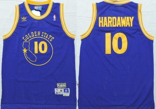 Golden State Warriors #10 Tim Hardaway Blue Swingman Throwback Jersey