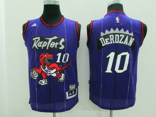 1f60e9efcda Toronto Raptors #10 Demar DeRozan Hardwood Classic Purple Swingman Kids  Jersey