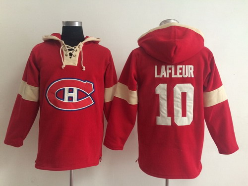 2014 Old Time Hockey Montreal Canadiens #10 Guy Lafleur Red Hoodie