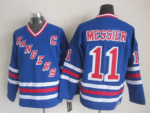 separation shoes f53e2 6b0db New York Rangers #11 Mark Messier 1993 Light Blue Throwback ...