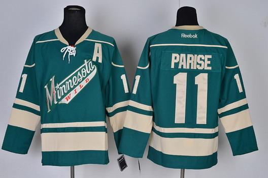hot sale online 394f5 e6a07 Minnesota Wild #11 Zach Parise Green Third Jersey on sale ...