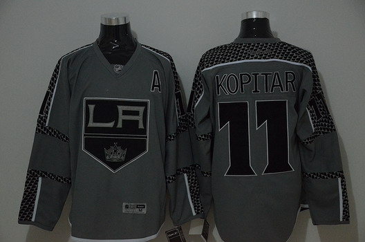 Los Angeles Kings  11 Anze Kopitar Charcoal Gray Jersey on sale 625c4a220