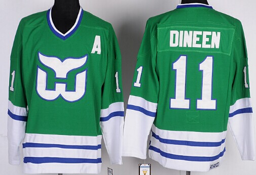 Hartford Whalers #11 Kevin Dineen Green Throwback CCM Jersey