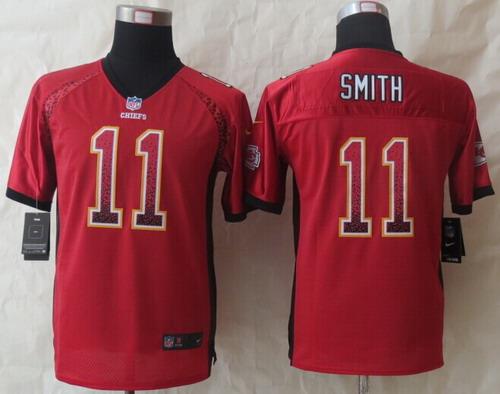 6e0ce059d Nike Kansas City Chiefs  11 Alex Smith Drift Fashion Red Kids Jersey