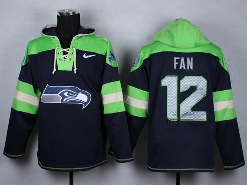 Nike Seattle Seahawks #12 Fan 2014 Navy Blue Hoodie