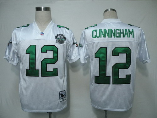 quality design 90ab5 475e6 Philadelphia Eagles #12 Randall Cunningham White Throwback ...