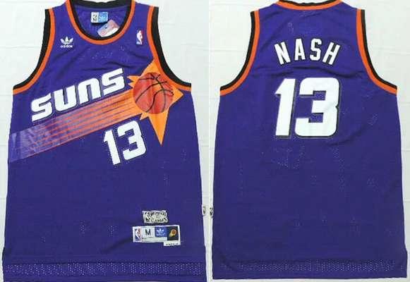 2bc70e9c5 Men s Phoenix Suns  13 Steve Nash Purple Hardwood Classics Soul Swingman  Throwback Jersey