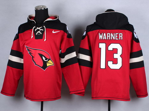 Nike Arizona Cardinals #13 Kurt Warner 2014 Red Hoodie