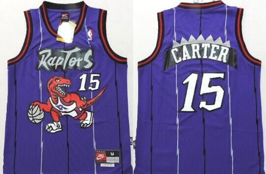 Vince Carter Toronto Raptors 15 NBA Basketball Swingman Jersey Shirt Purple
