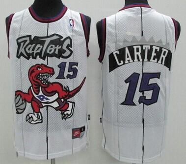 finest selection b9a92 a95f5 Toronto Raptors #15 Vince Carter Hardwood Classic White ...