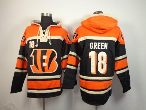Cincinnati Bengals #18 A.J. Green 2014 Black Hoodie