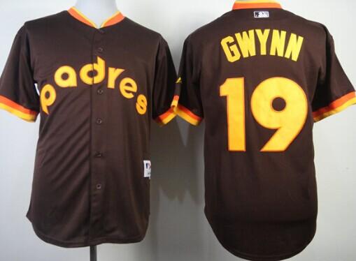 detailed look 80dde c5251 San Diego Padres #19 Tony Gwynn 1984 Brown Jersey on sale ...