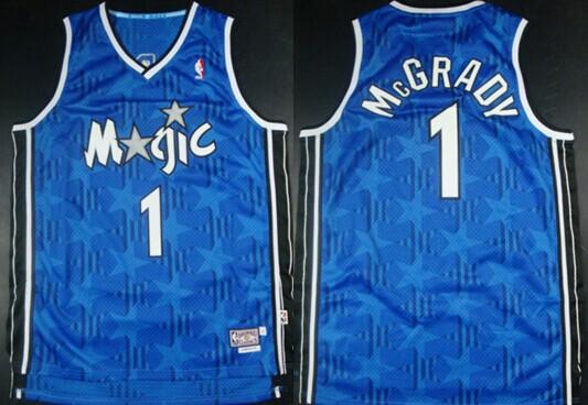 online store e26b2 d42fb Orlando Magic #1 Tracy McGrady Blue All-Star Swingman ...