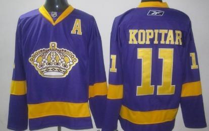 new style 9097a 06614 Los Angeles Kings #11 Anze Kopitar Purple Jersey on sale,for ...