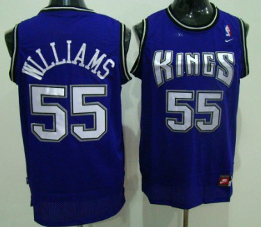 purchase cheap 0f345 5d9c4 Sacramento Kings #55 Jason Williams Purple Swingman Jersey ...