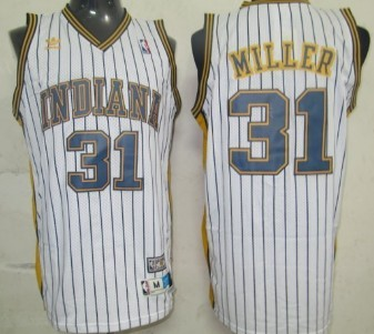New Indiana Pacers#31 Reggie Miller Retro Swingman Basketball Jerseys White