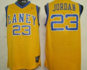 b12b8dcf18531e Emsley A. Laney High School  23 Michael Jordan Yellow Jersey on sale ...