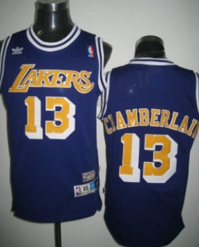 on sale acd3a 05086 Los Angeles Lakers #13 Wilt Chamberlain Purple Swingman ...
