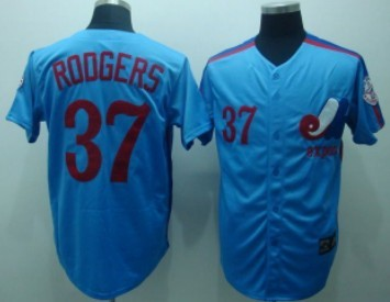Montreal Expos #37 Steve Rodgers 1982 Blue Throwback Jersey
