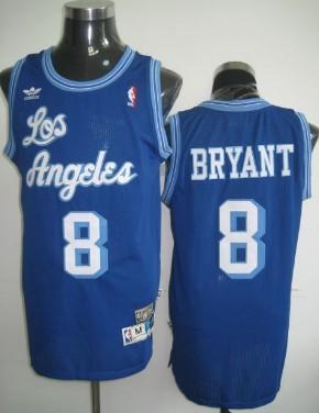 Los Angeles Lakers #8 Kobe Bryant Blue Swingman Throwback Jersey ...