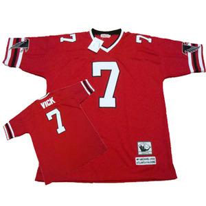 Atlanta Falcons  7 Michael Vick Red Throwback Jersey on sale e5a81d6bd