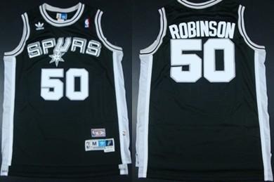 separation shoes 67618 3c72c San Antonio Spurs #50 David Robinson Black Swingman ...