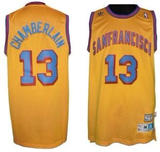san francisco ab6ef 3fc60 San Francisco Warriors #13 Wilt Chamberlain ABA Hardwood ...