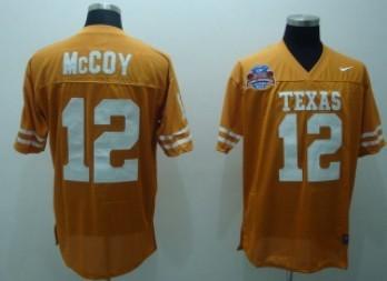 ... colt mccoy akron texas longhorn  texas longhorns 12 mccoy orange jersey 2cbeb51ff