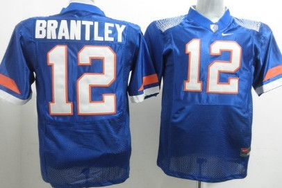 Florida Gators #12 John Brantley Blue Fighting Jersey