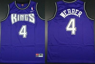 sacramento kings 4 chris webber purple swingman jersey