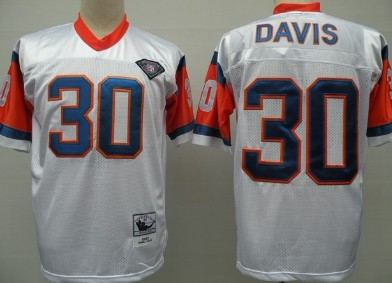 online store eb1fd cf38e Denver Broncos #30 Terrell Davis White 75TH Throwback Jersey ...