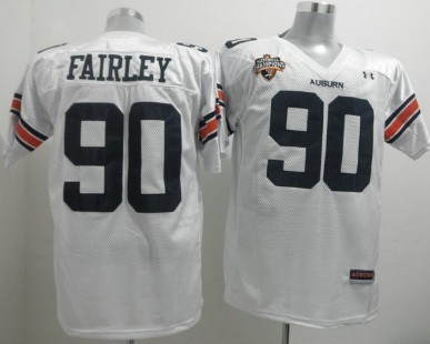 Auburn Tigers #90 Nick Fairley White Jersey