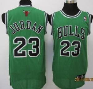 Chicago Bulls  23 Michael Jordan Green Swingman Jersey on sale 9630addae