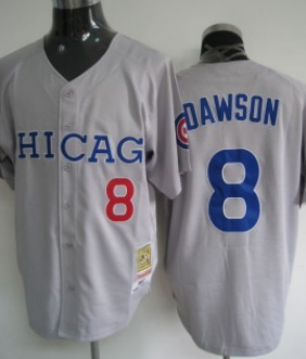 hot sales 26519 c023c Chicago Cubs #8 Andre Dawson Gray Throwback Jersey on sale ...